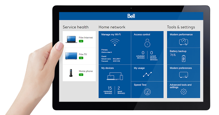 how to change wifi password on bell homehub 2000
