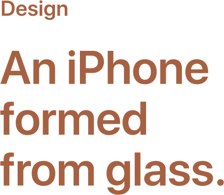 An iPhone formed from glass.