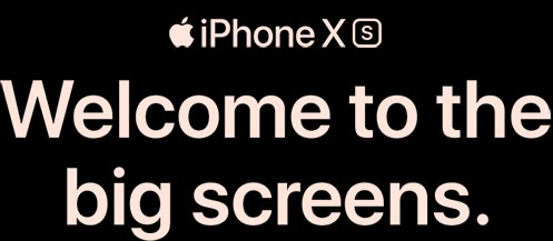 Welcome to the big screens with iPhone XS.
