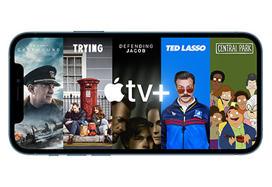Get one year of Apple TV+ when you buy an iPhone or iPad.