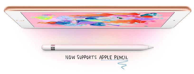 Now supports Apple Pencil