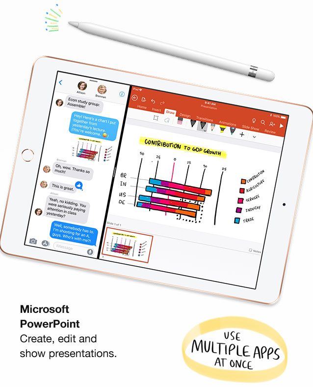 Microsoft PowerPoint. Create, edit and show presentations. Use multiple apps at once.