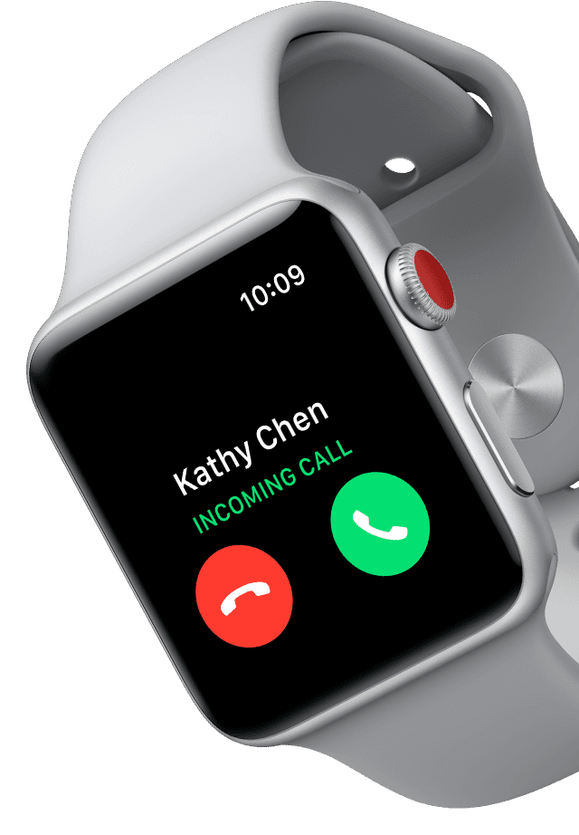 Make calls and send texts with just your watch.