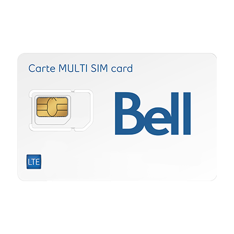 Carte Sim Canada.Lte Multi Sim Card Bell Mobility Bell Canada
