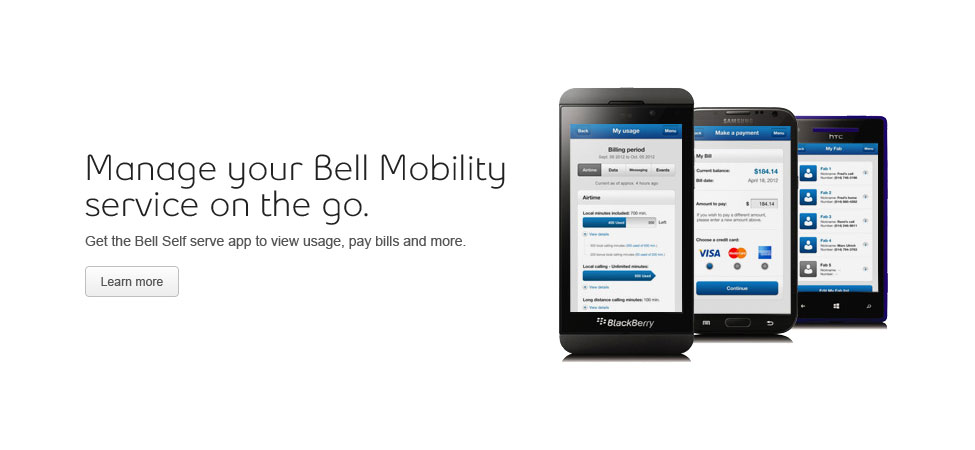 Manage your Bell Mobility service on the go.