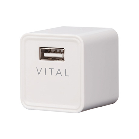 Vital 2.4A USB wall charger (white)