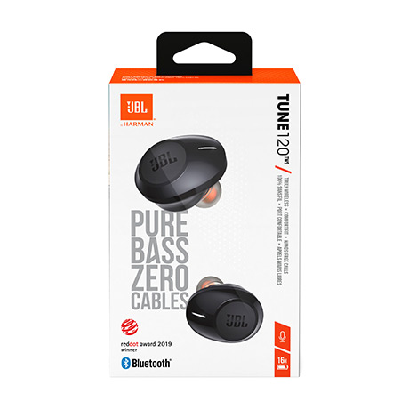 JBL T120TWS true wireless earbuds (black)