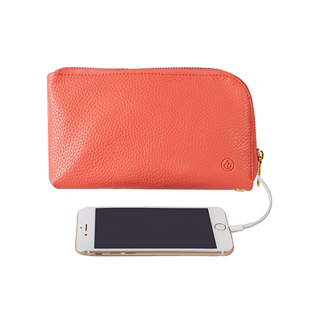 Chic Buds Clutchette Power Charging Bag (coral)