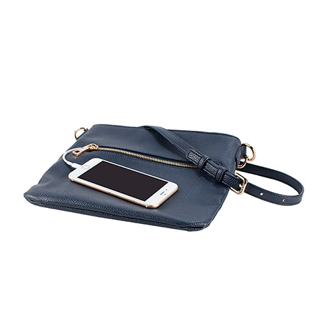 Chic Buds Crossbody Power Charging Purse (navy)
