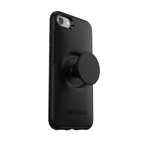 Otter + Pop Symmetry case (black) for iPhone 7/8