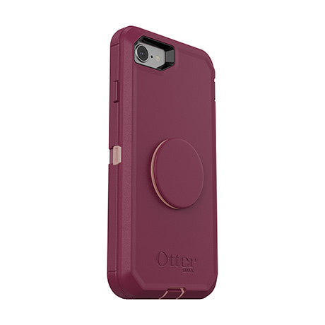 Otter + Pop Defender case (plum/pink) for iPhone 7/8