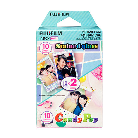 Instax Mini Film - Party Pack (Stained Glass and Candy Pop)