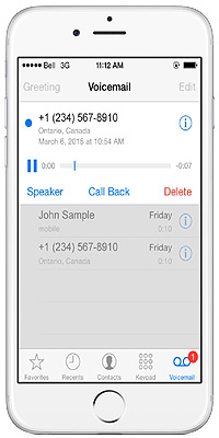 how to turn on visual voicemail iphone iphone visual voicemail from bell mobility 7878