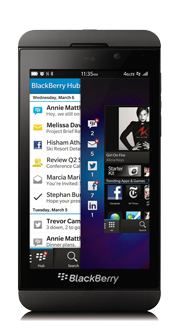 BlackBerry<sup style='font-size:0.5em'>MD</sup> Z10