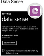 Windows Phone proactively manages your monthly data allowance by using Wi-Fi