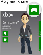 Use your Xbox LIVE avatar and gamer profile