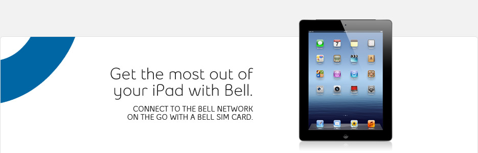 iPad data plans from Bell Mobility