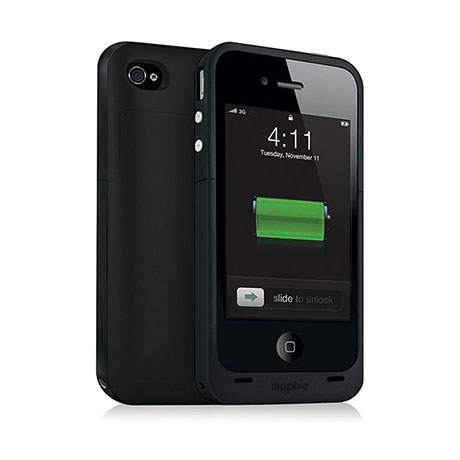 mophie juice pack plus (black) for iPhone 4/4S