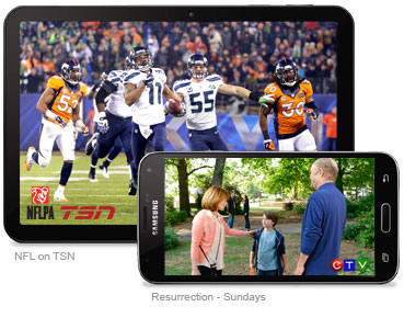 TV channels on your tablet and smartphone