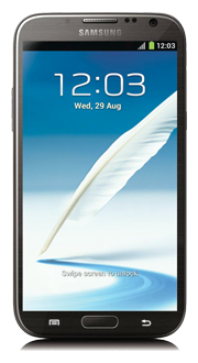 Samsung Galaxy Note II<sup style='font-size:0.3em;vertical-align:60%'>MC</sup>